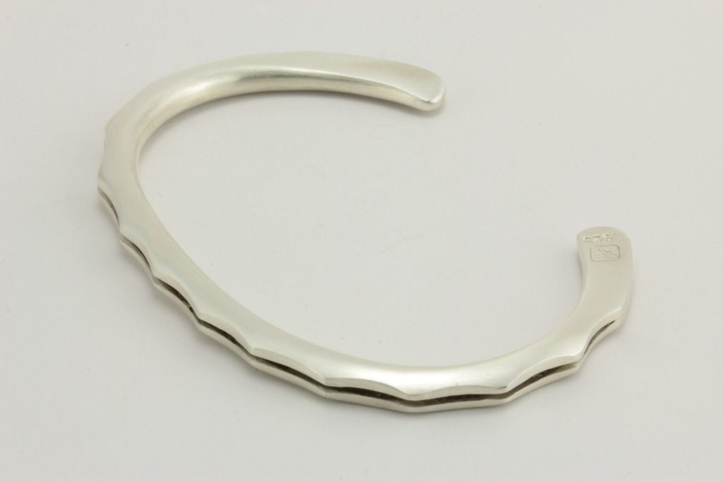 """joe,"" bracelet in sterling silver."