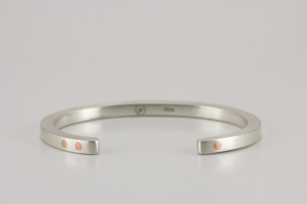 Sterling silver antithesis bracelet