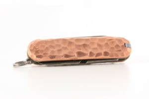 hammered copper pocket knife