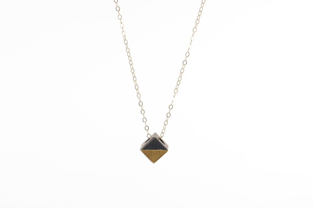 blackened lux cube pendant