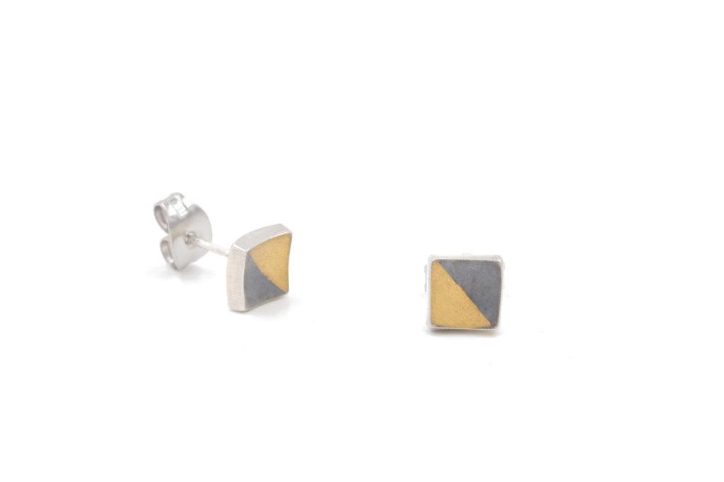 oxidized square studs